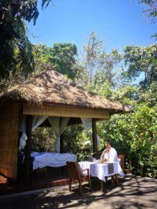 Kai Böcing genießt das Alila Ubud
